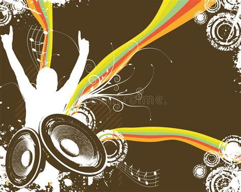 musical fans org free retro rainbow music fan stock vector image of bass backgrounds 5778575