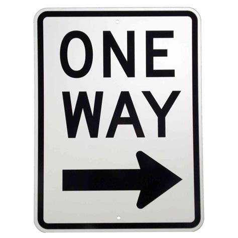brady 24 in x 18 in aluminum one way sign 94197 the