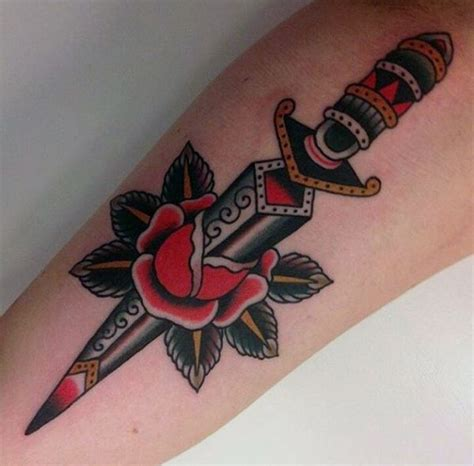 dagger tattoos for men 70 traditional dagger designs for sharp ink