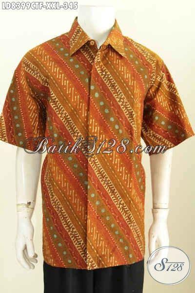 Baju Pria Big Size sedia kemeja batik elegan lengan pendek furing baju batik pria big size motif klasik