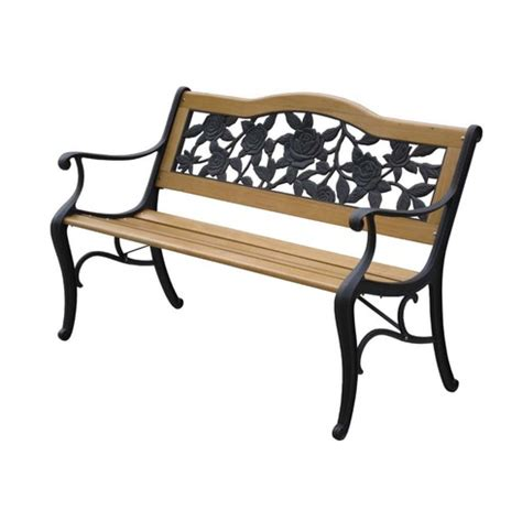 lyon bench lyon bench garden furniture in wood metal the garden
