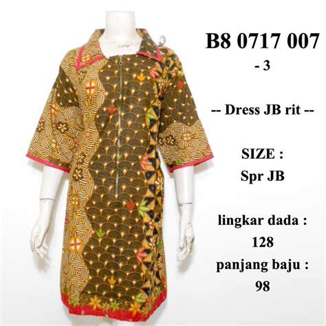 jual dress batik jumbo sogan rit terusan tunik wanita big