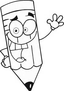Colouring page of cartoon pencil for kids coloring point