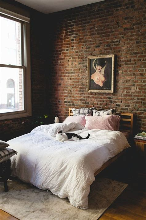 brick bedroom 30 trendy brick accent wall ideas for every room digsdigs
