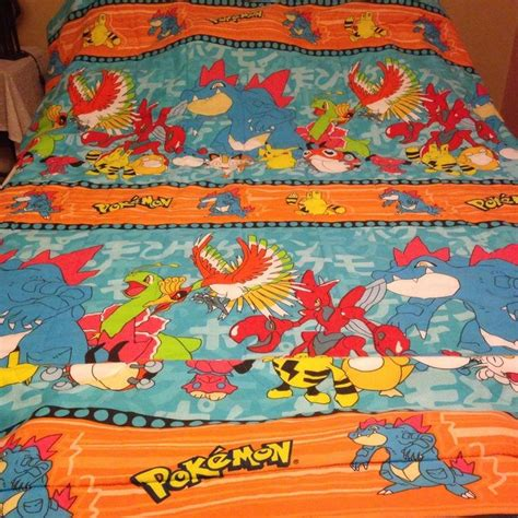 pokemon bedding 1998 pokemon twin size bed comforter blanket 2nd