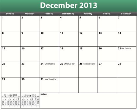December 2013 Calendar Template december 2013 calendar printable and templates auto design tech