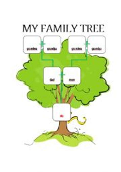 kindergarten family tree worksheets 84 free esl family