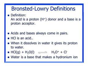 A Brønsted Lowry Acid Is A Proton Acceptor Chapter 16 Acids And Bases Ppt