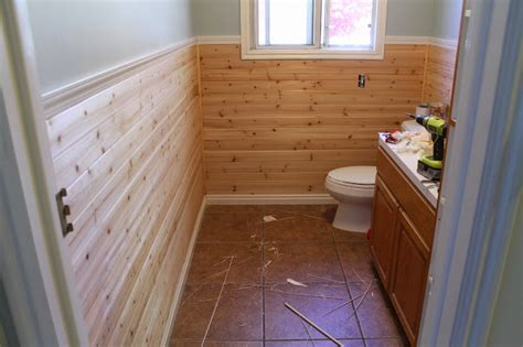 Cedar Wainscoting by Planking The Bathroom Part 1 Chris