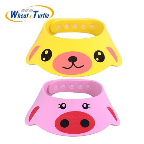 baby shower cap shoo visor bath visor 3 colors adjustable baby hat toddler shoo bathing shower cap wash hair shield direct