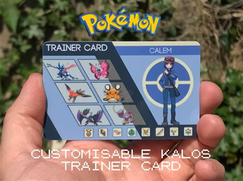 how to make your own trainer card custom pok 233 mon trainer card kalos design
