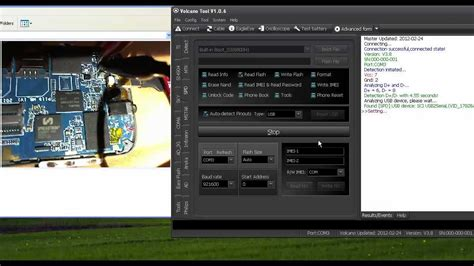 tutorial flash volcano box volcano box 6800h1 read flash done youtube