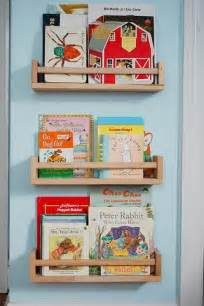 ikea spice racks bookshelves repurposing spice racks into children s bookshelves ikea