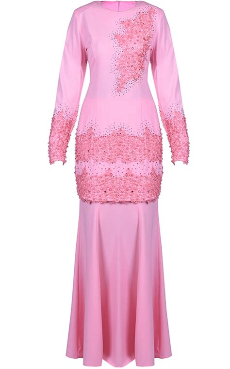Baju Kebaya Modern Pink baju kurung mini ifa pink baju kurung