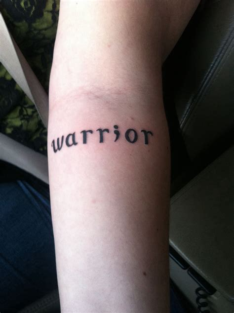 inside out tattoo warrior semicolon on the inside of my