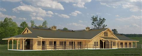 Pole Barn Floor Plans With Living Quarters by Build A Barn The Fieldstone 20 Stall Horse Barn Plans