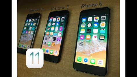 ios 11 iphone 6 vs iphone 6s vs iphone 7 speed test and benchmarks