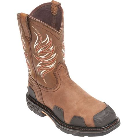 ariat overdrive work boots ariat s overdrive wide square toe work boots academy