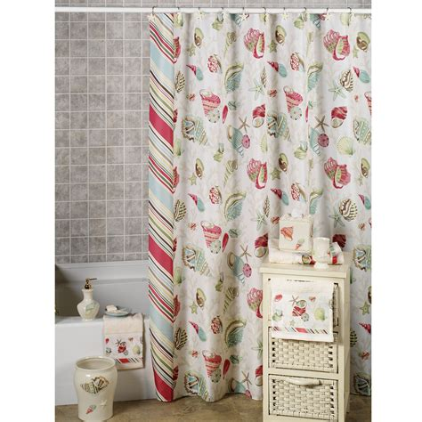 seashell shower curtain walmart sea themed shower curtains best inspiration from