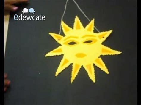 How To Make A Paper Sun - how to make a sun shaped paper mask
