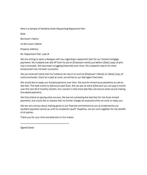 Rent Settlement Letter 91 sle letter explanation for delinquent payment