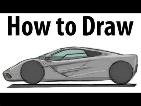 mclaren f1 drawing how to draw a mclaren f1 sketch it quick youtube