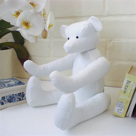 Teddy Handmade - personalised handmade cotton teddy by kate sproston