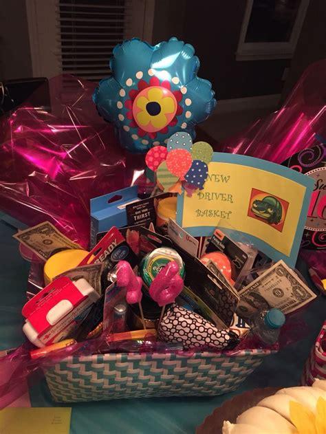 Sweet Sixteen New Driver Basket Gifts Pinterest