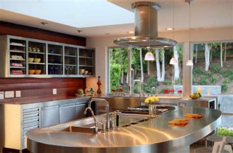 10 Beautiful Stainless Steel Kitchen Island Designs