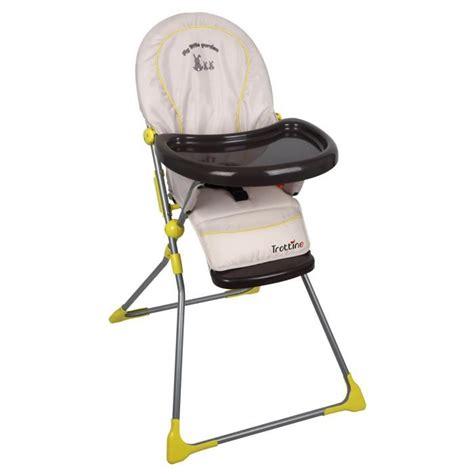 chaise haute trottine trottine chaise haute keppler garden gris et jaune