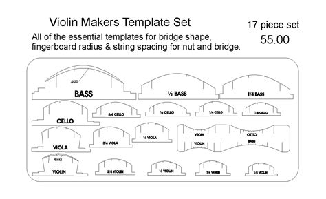 guitar neck radius template luthier tools patterns