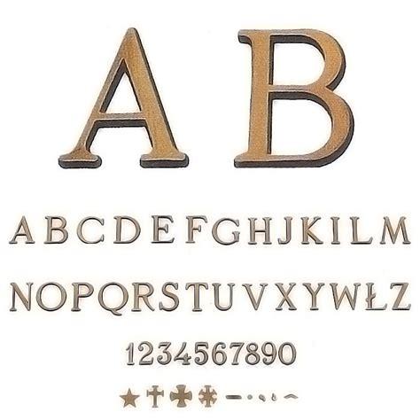 caratteri lettere lettere e numeri romano patinato in varie misure