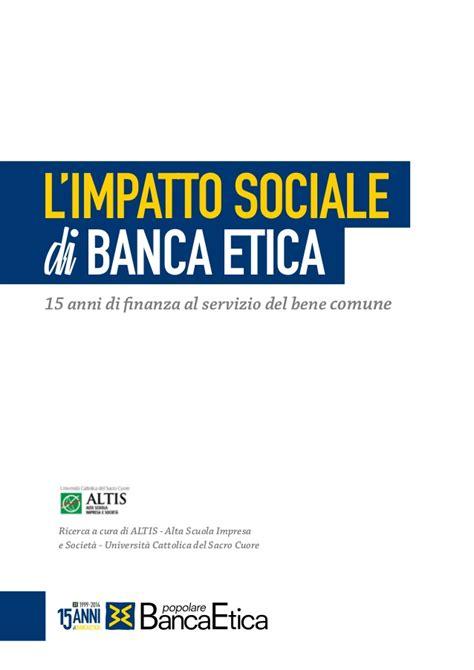 servizi you banco popolare l impatto sociale di banca etica 15 anni di finanza al