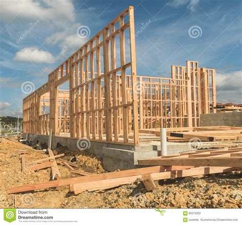 Construction Of New Home Building, New Zealand Stock Photo