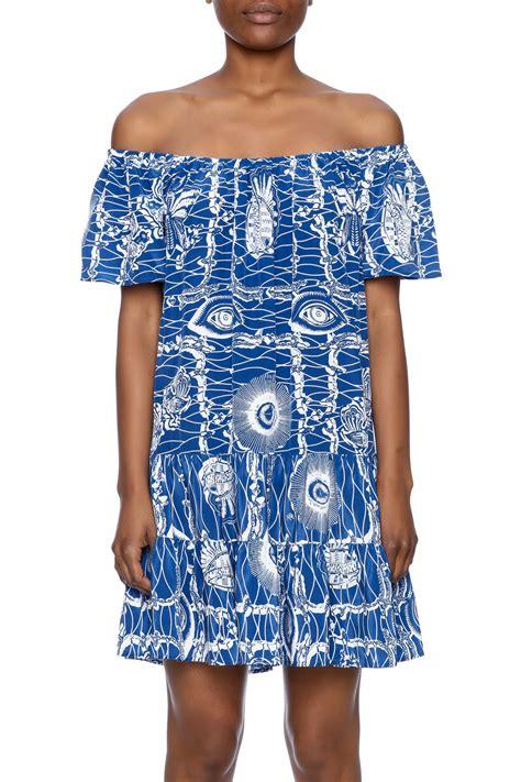 Nieves Lavi Florence Print Dress by Nieves Lavi Flouncy Silk Dress From By N 233 Da