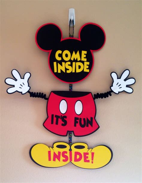Mickey Mouse Door by Mickey Mouse Door Sign Birthday By Cutestbowsontheblock
