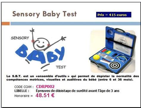 test baby cotation du quot sensory baby test quot