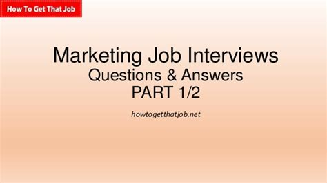 marketing questions and answers part 1