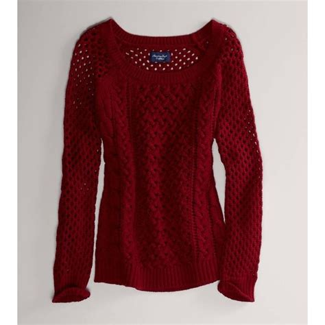 American Maroon american eagle outfitters maroon open stitch cable sweater for fall beth s style