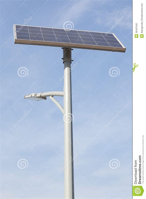 solar panel light post solar l post stock photography image 29187342