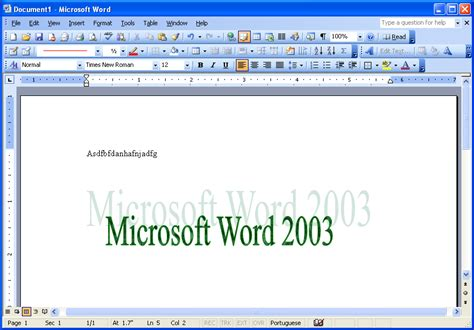 What Is Ms Office Word Image Gallery Microsoft Word 2003