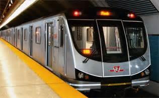 new ttc subway cars new toronto rocket at platform in subway station