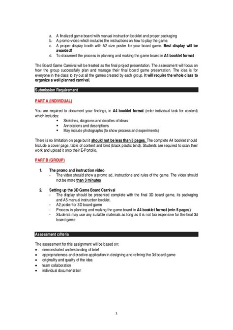 game rules layout cts project 2 board game project brief march 2015