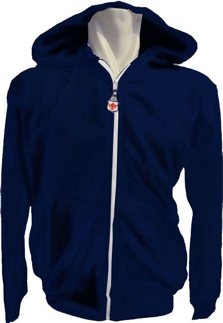 Jaket Pria Dan Wanita Zipper Navy S jaket hoodie bahan katun berkualitas mudah menyerap keringat