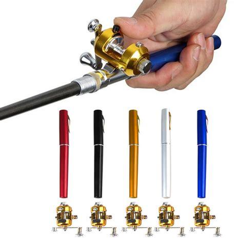 Mini Portable Pen Fishing Rod Length 16m With Fishing Kit 6 Fishing Accessories Mini Telescopic Portable Pocket Fish