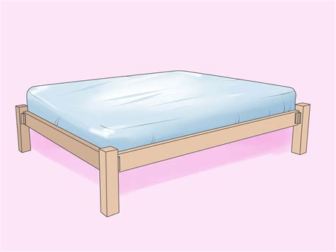 bed frame 3 ways to build a wooden bed frame wikihow
