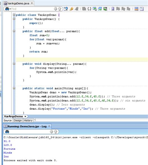 oracle tutorial in w3schools fortune minds java j2ee how to use varargs in java