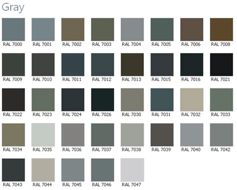 grey color chart