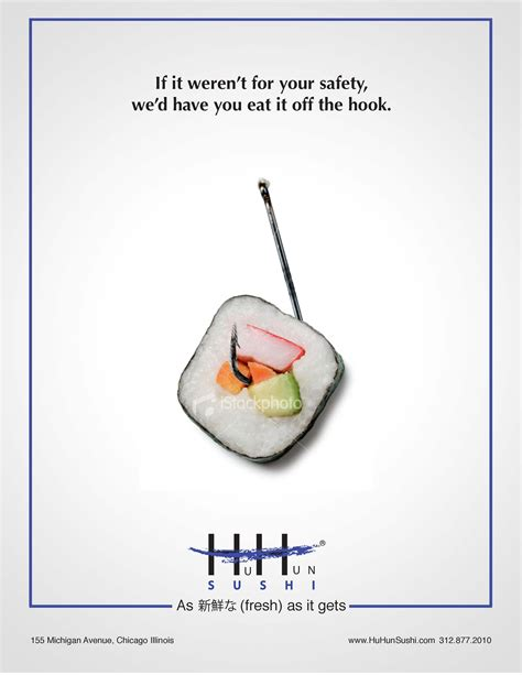 Creative Office Design sushi ad step by step