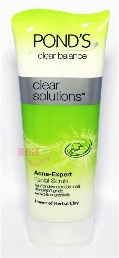Ponds Clear Solution Fc Scrub 100g pond s clear balance solution anti bact acne expert